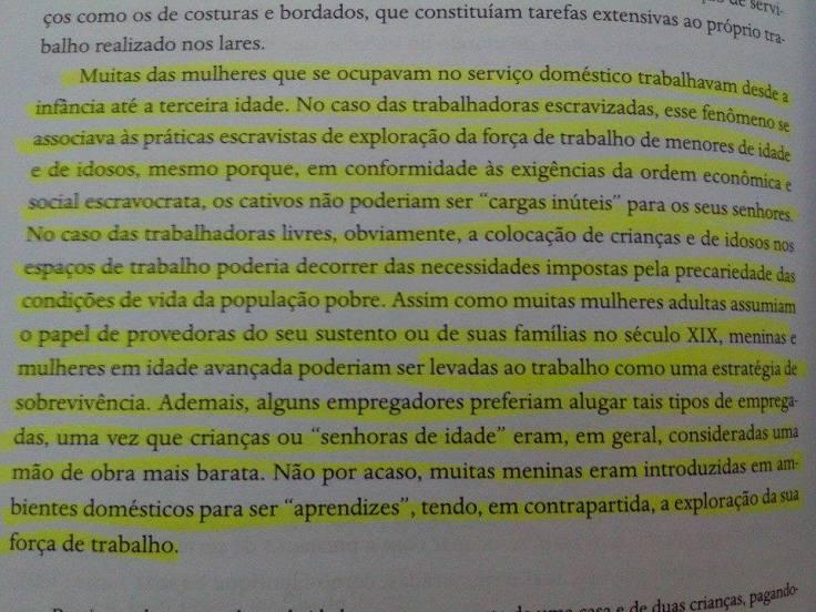 """Trecho do livro """"Mulheres negras no Brasil escravista e do pós-emancipação"""""""